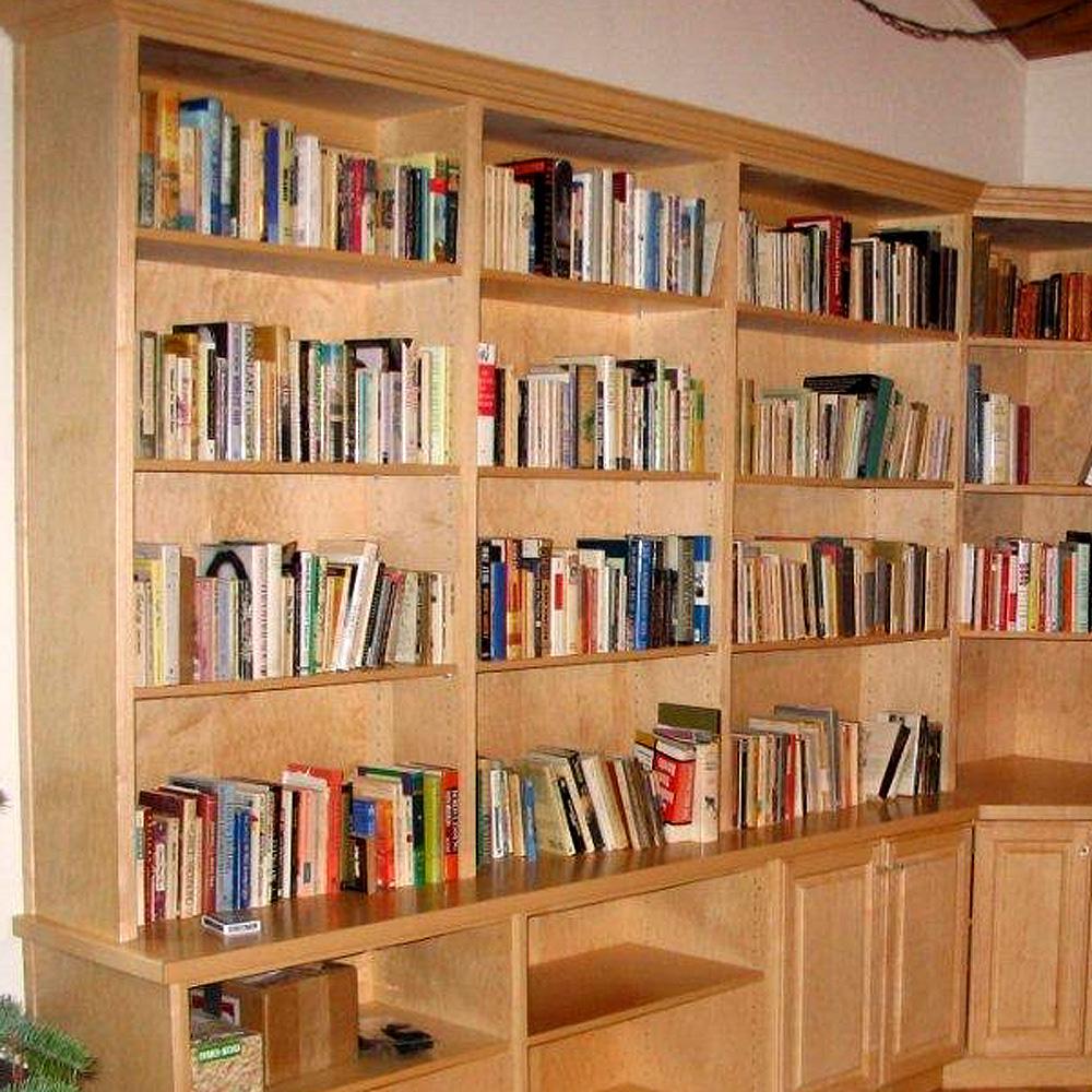Maple book cases