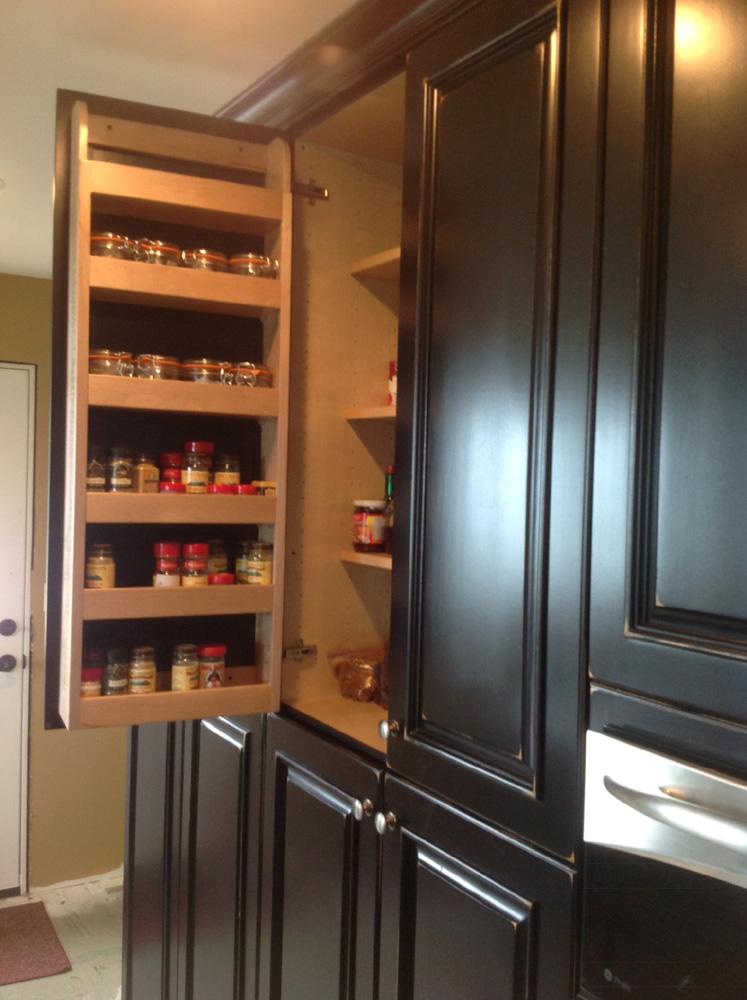Spice rack cabinet