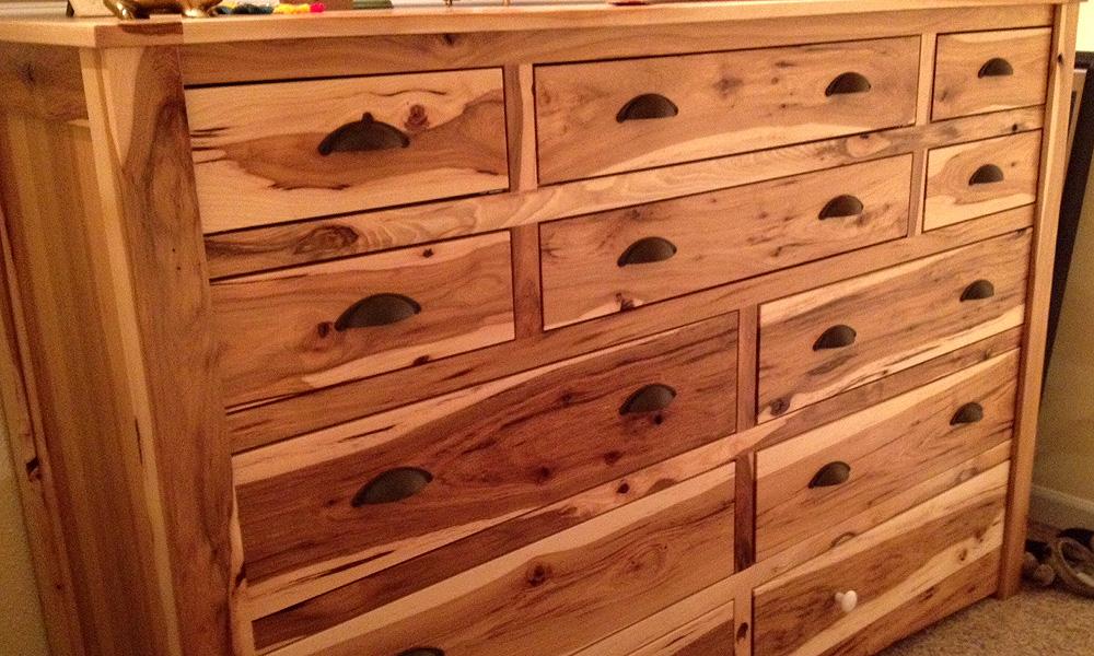 Furniture - rustic hickory dresser
