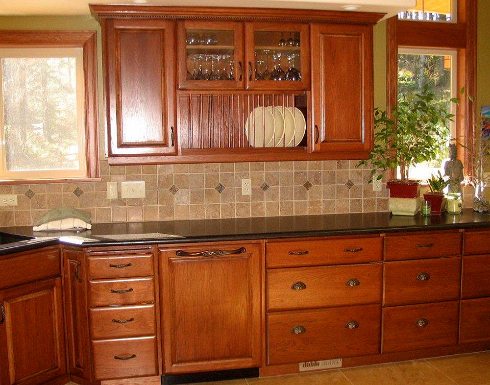 Kitchen - brown hickory