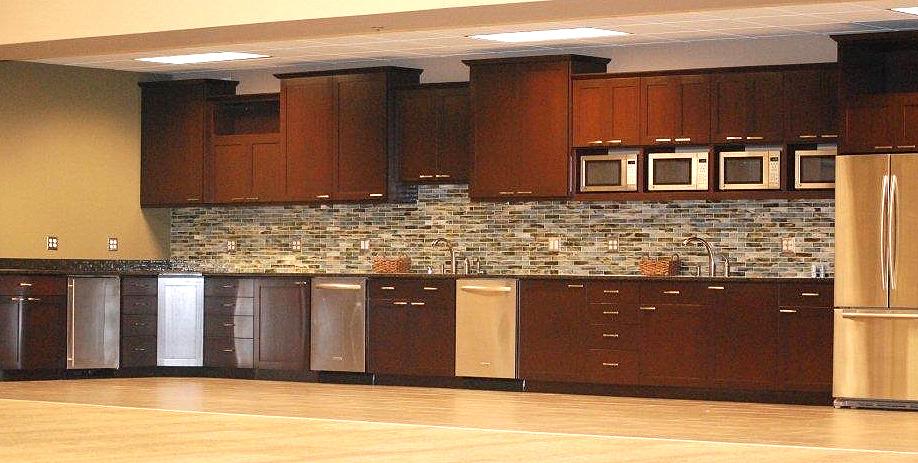 Commercial kitchen - mahogany