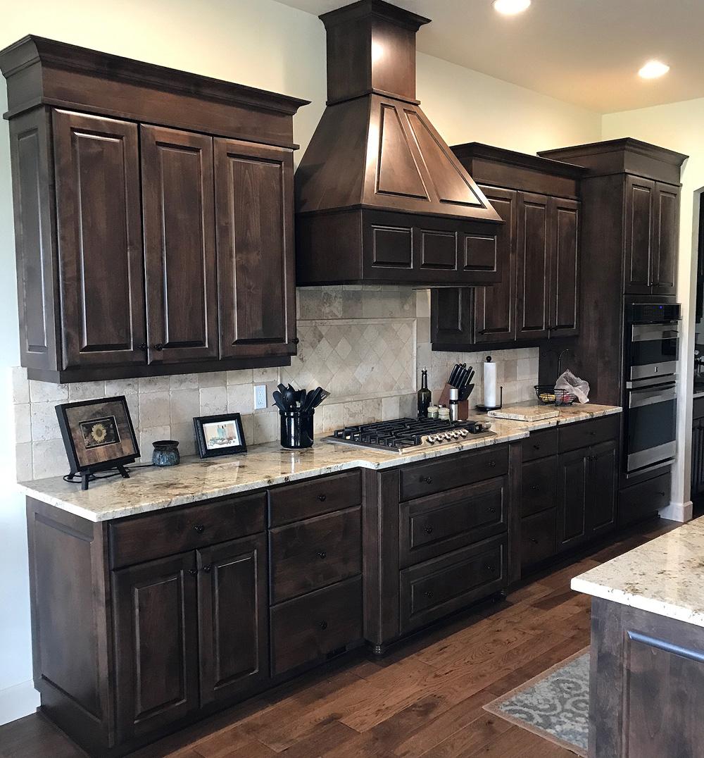 Kitchen - raised panel alder, espresso stain