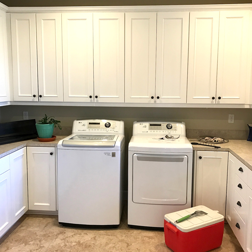 Utility room - paint-grade shaker style