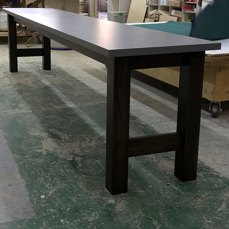 Table - hickory legs, laminate top